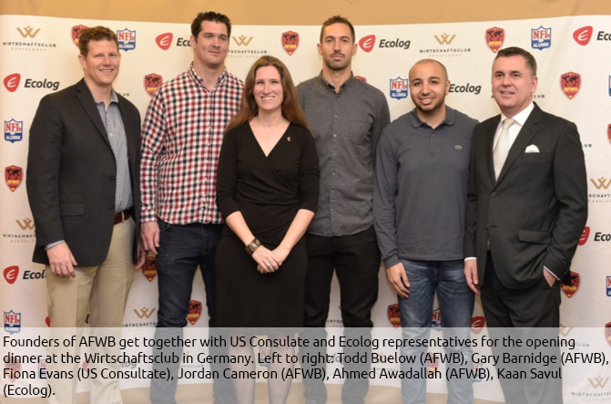 Ecolog International Supports American Football charity in Germany