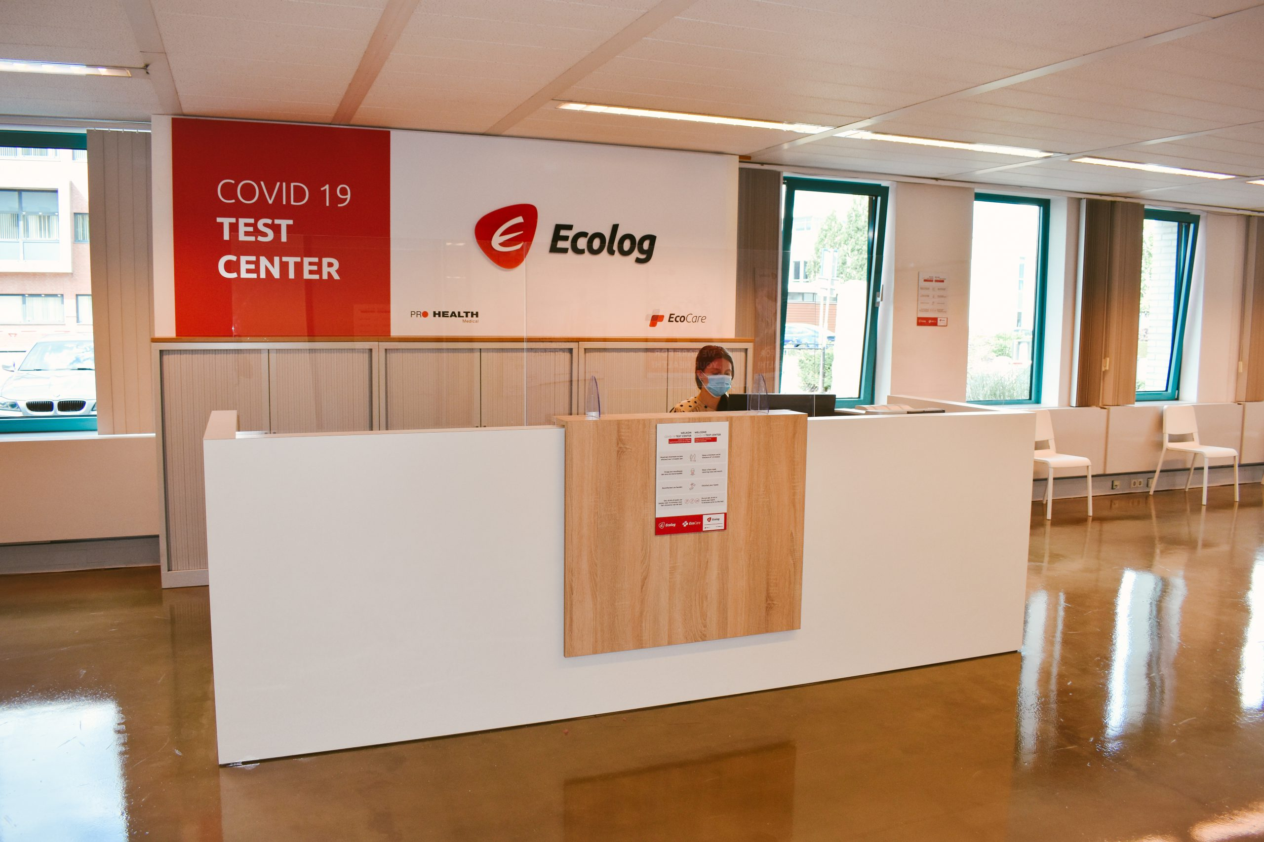 Ecolog announces the opening of its COVID-19 Walk-In Test Center at Eindhoven Airport