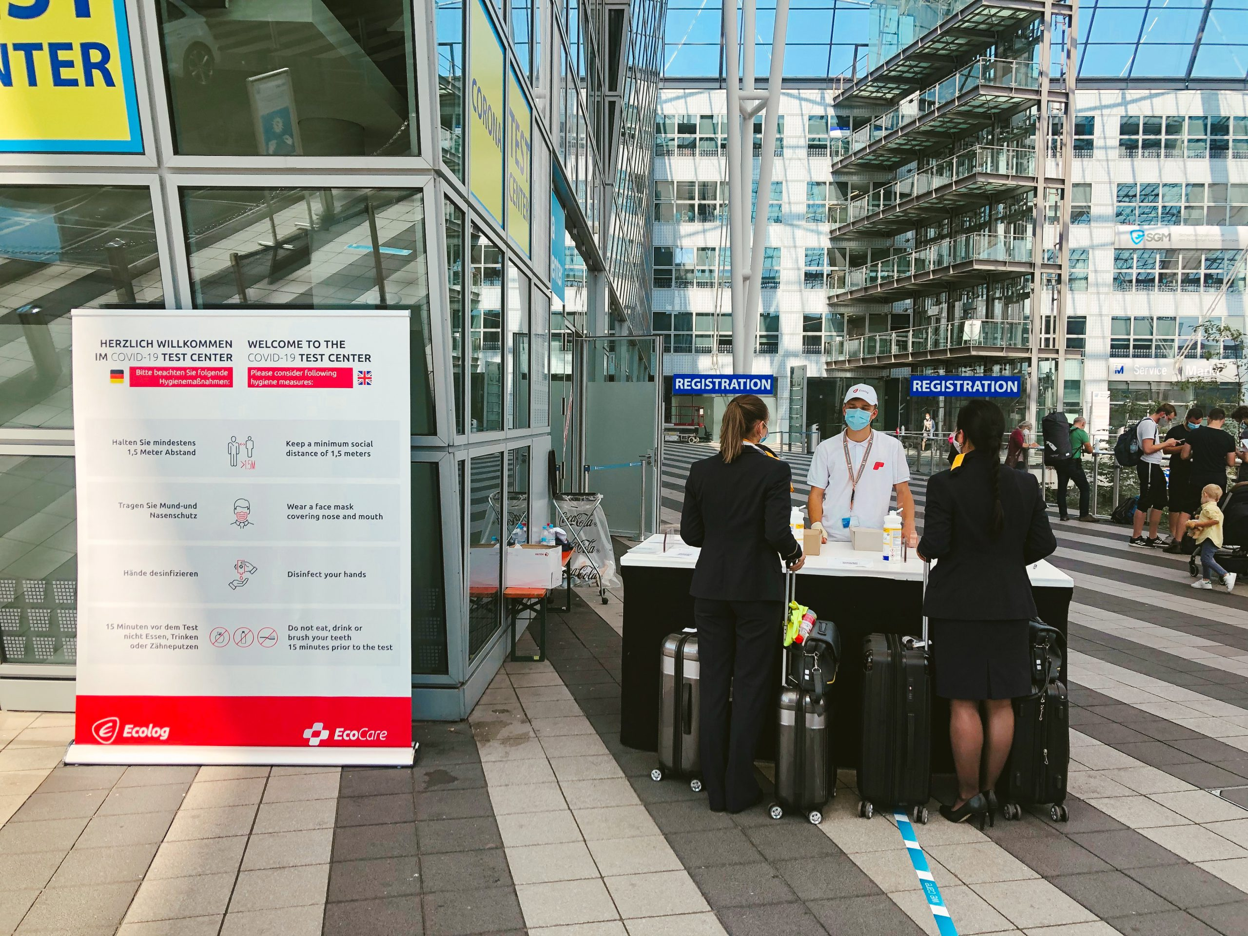 Bavarian State Office for Health and Food Safety has awarded Ecolog to perform COVID-19 Tests at Airports in Bavaria, Germany